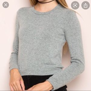 Cropped Grey Brandy Melville Sweater